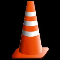 Traffic cone via Bvs-aca at Wikimedia Commons