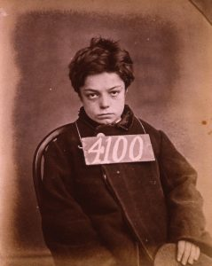 """""""George Davey was sentenced to one month's hard labour in Wandsworth Prison in 1872 for stealing two rabbits. He was ten years old."""" Conditions in Canada were similar at that time. (via UK National Archives)"""
