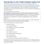 YCJA0101 - Introduction to the Youth Criminal Justice Act