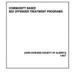 Community Based Sex Offender Treatment Programs (1997)