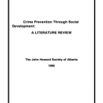 Crime Prevention Through Social Development: A Literature Review (1995)
