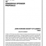 Response to Dangerous Offender Proposals (1993)