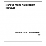 Response to High Risk Offender Proposals (1997)