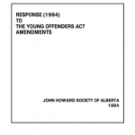Response (1994) to the Young Offenders Act Amendments