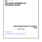 Response to the Young Offenders Act Provincial Review (1994)