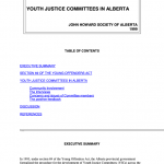 Youth Justice Committees in Alberta (1999)