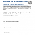 BLYG0205 - Bullying and the Criminal Code