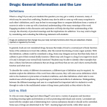 DRGS0101 - Drugs: General Information and the Law