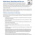 FMVL0106 - Family Violence: Child Abuse, Reporting and the Law
