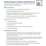 FMVL0108 - Family Violence: Actions and Resources