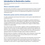 RSTJ0101 - Restorative Justice: Introduction