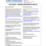Fact Sheet  - Prisons and Mental Health